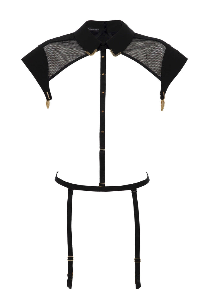 Josephine Collar & body Harness with detachable suspenders