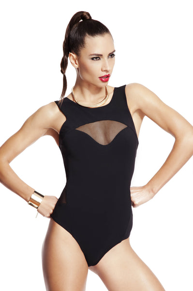 Annushka Swimsuit by Tatu Couture. Front images on model.