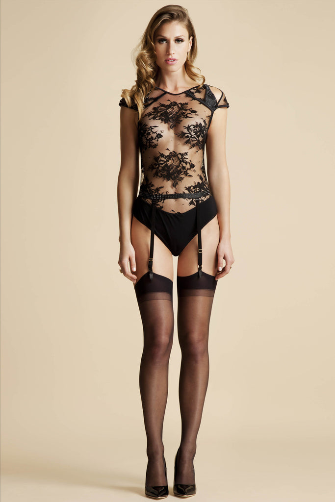 Nadya sheer lace Bodysuit | Luxury Bodysuit by Tatu Couture
