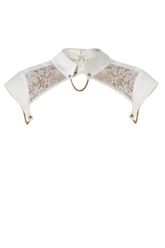 Nadya lace Collar and body harness with Swarovski crystals