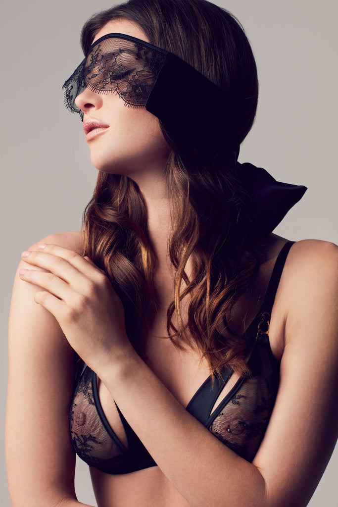 Sylvia Silk eyemask | Luxury lingerie accessories