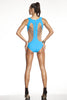 Tatu Couture's Tatyana swimsuit Turquoise back view
