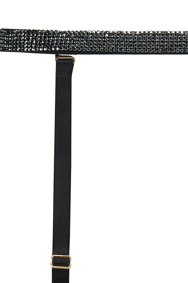 Ciara garter belt featuring Swarovski crystals and detachable suspenders