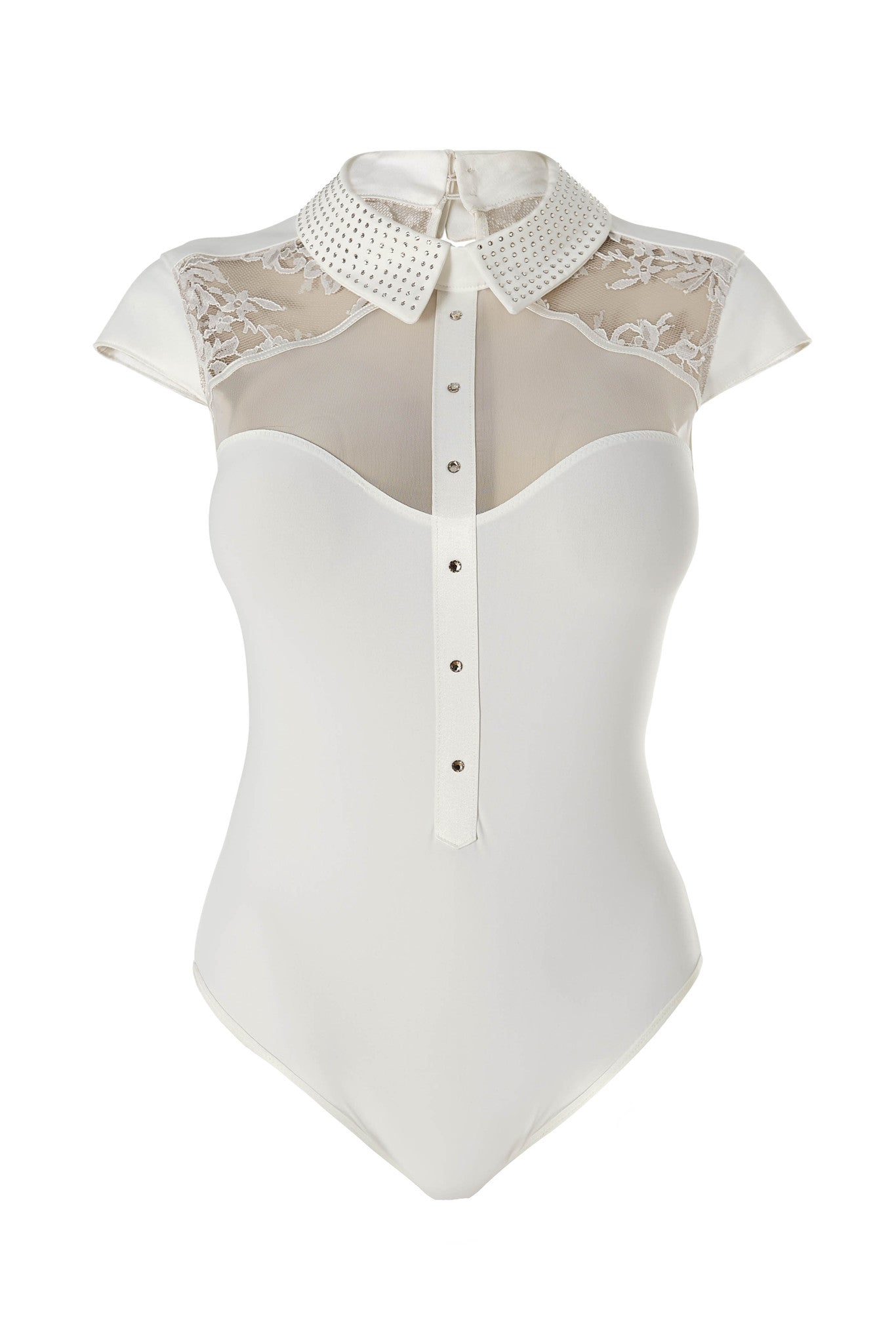 Nadya Collar body by Tatu Couture .Front view on mannequin