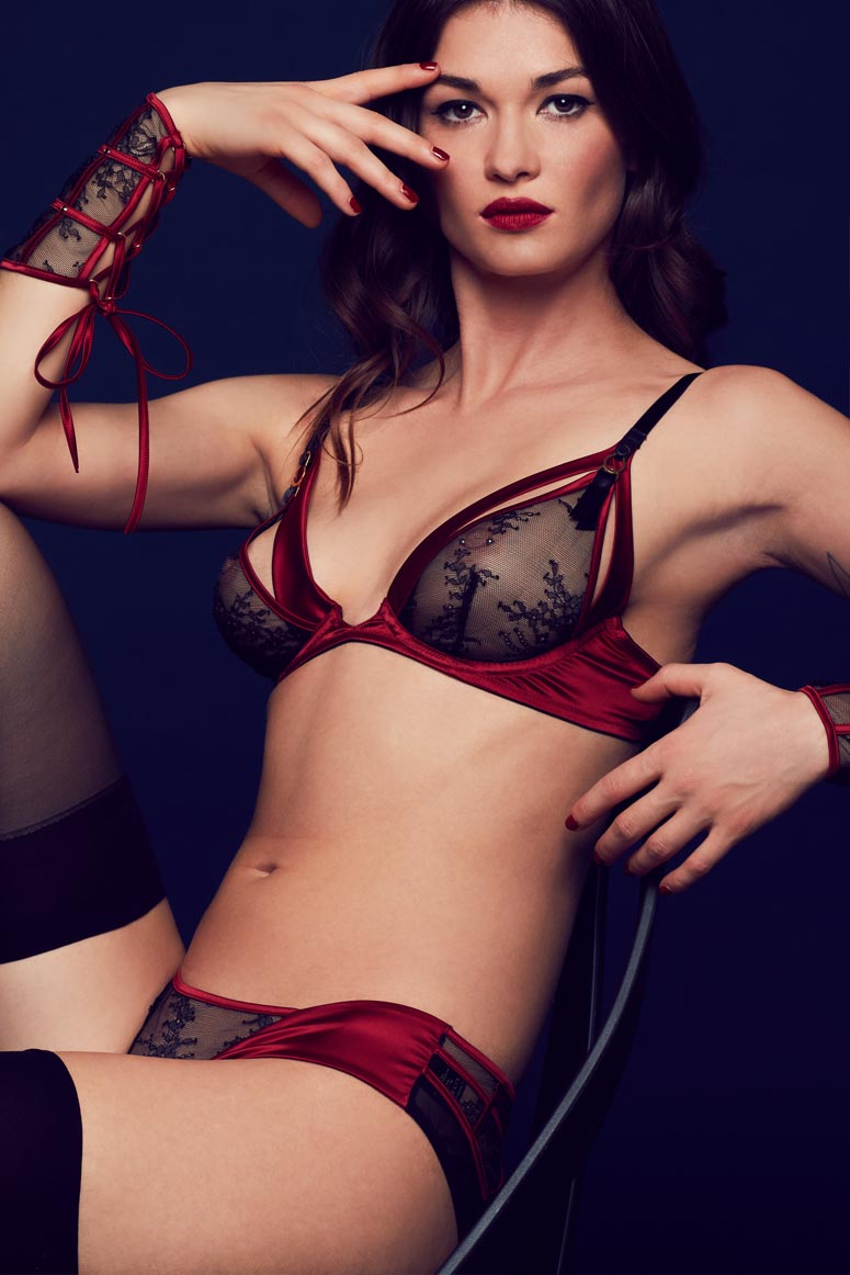Tatu Couture Odette Brief Front view on model