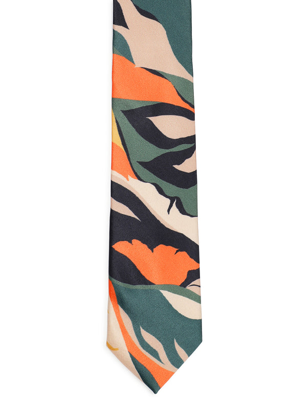 Jungle Print Printed Necktie
