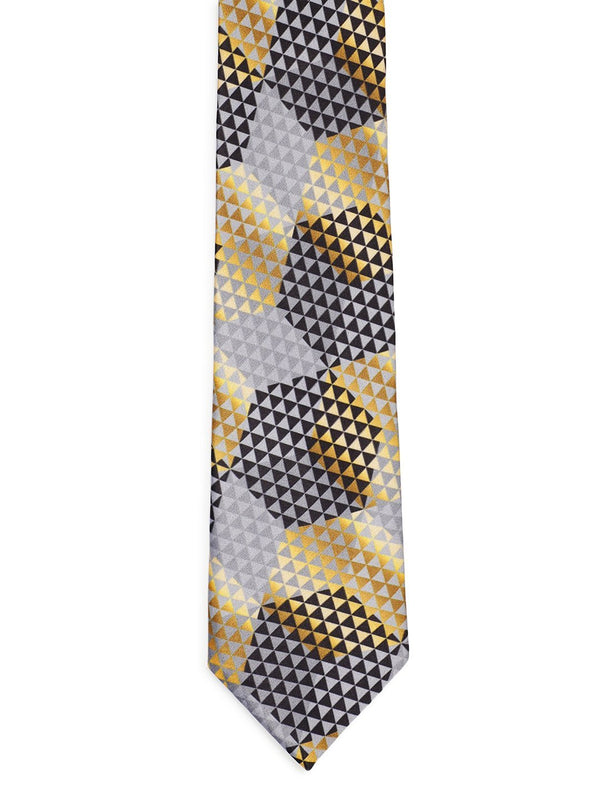 Golden & Black Printed Necktie
