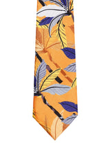 Floral Orange Print Necktie