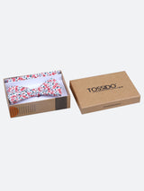 Floral Cotton Bowtie & Pocket Square Set