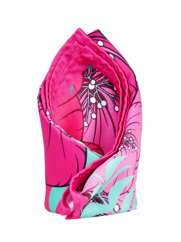 Pink Printed Pocket Square