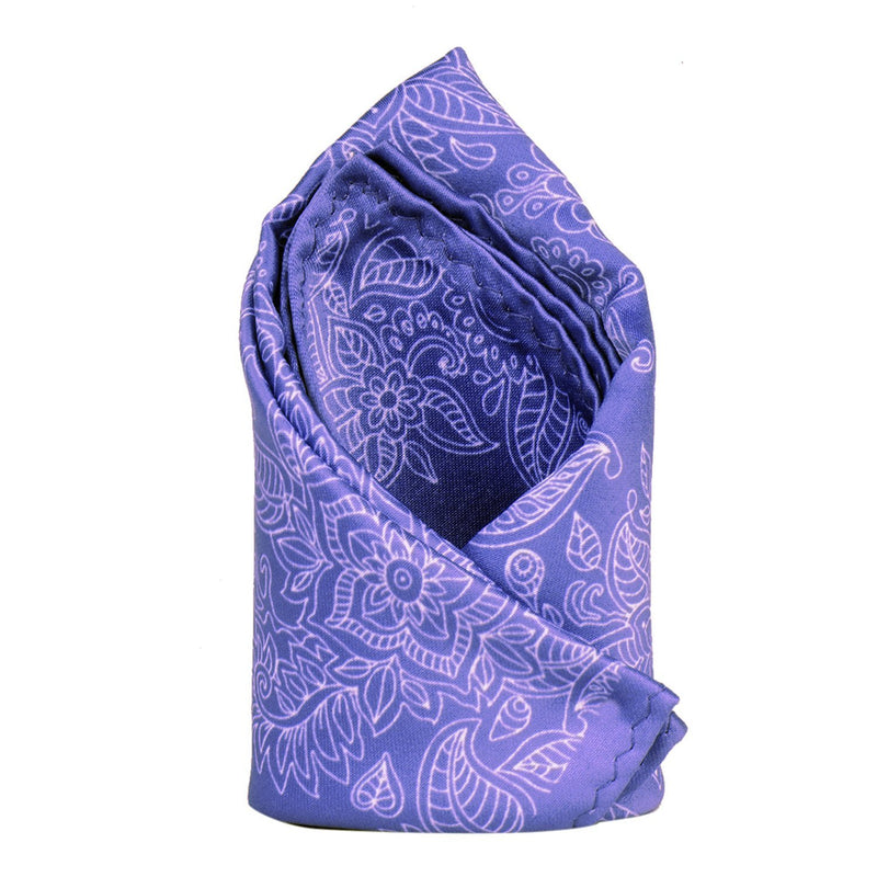 Light Purple Printed Pocket Square