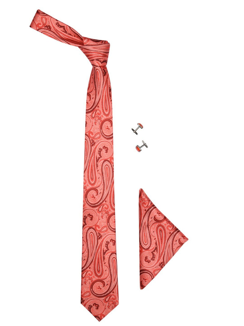 orange paisley Printed Necktie Giftset