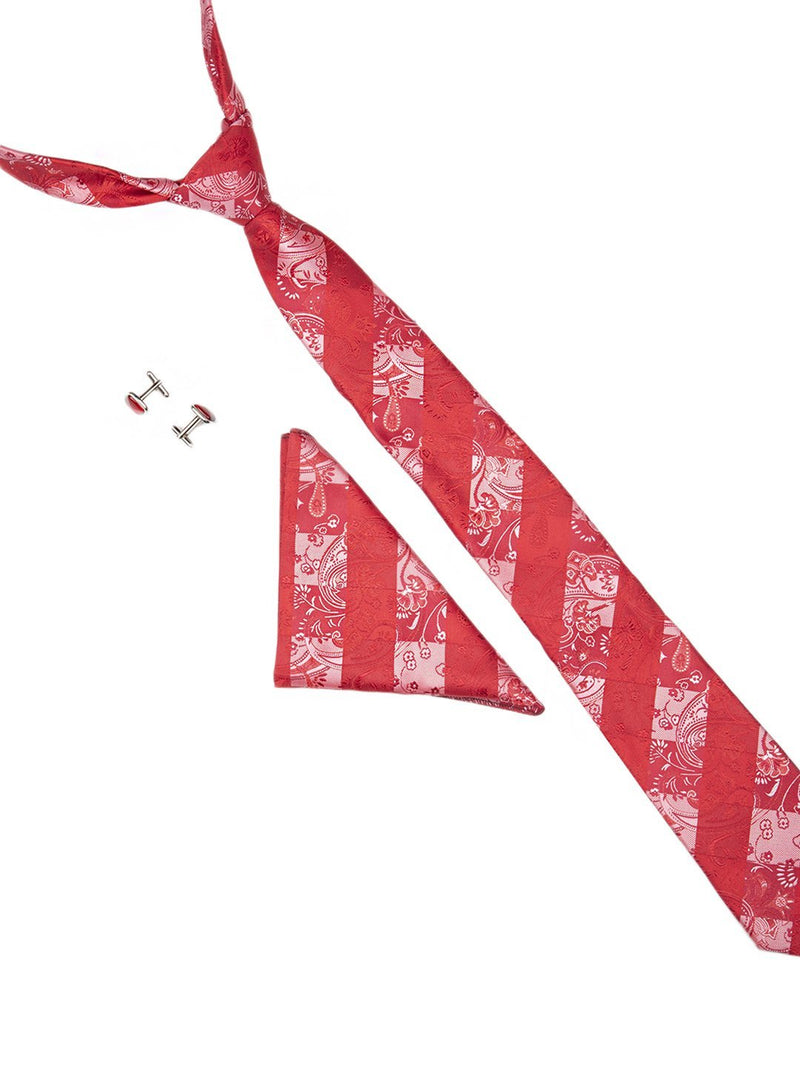 Red Paisley Necktie Giftset