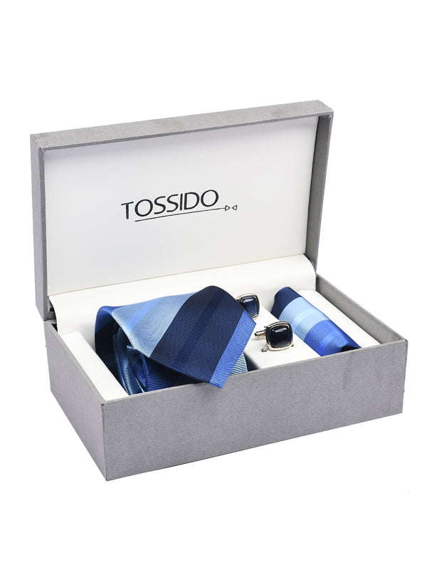 Blue Stripes Necktie Giftset