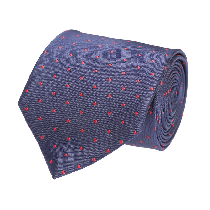 Blue Dotted Necktie