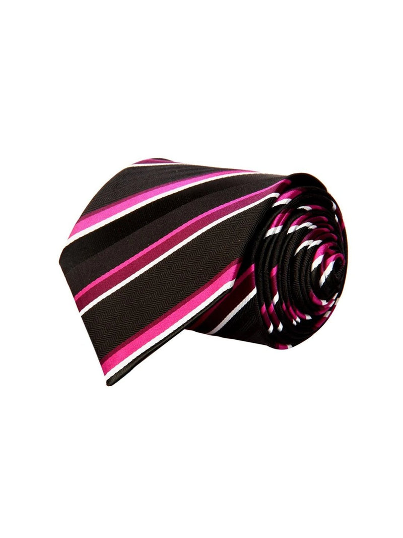 Black Stripes Necktie