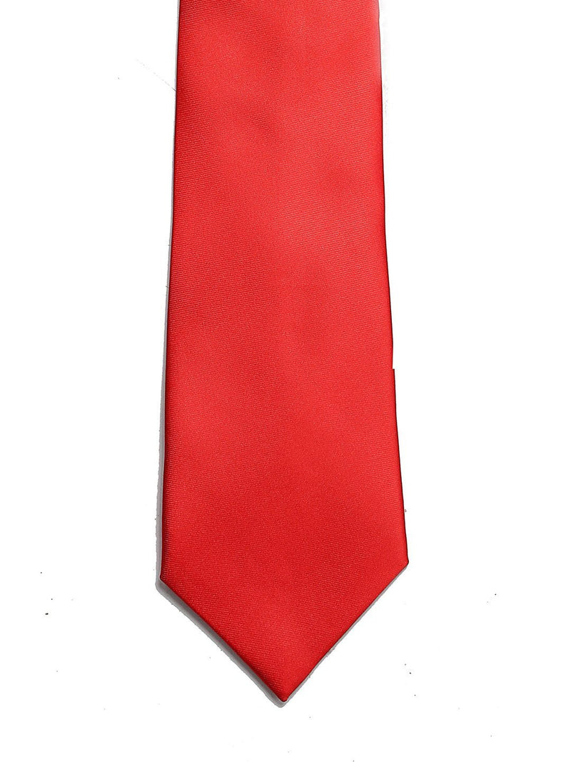Bright Red Solid Necktie