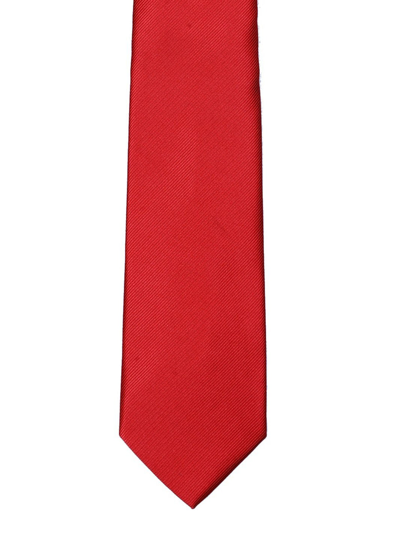 Red Solid Necktie