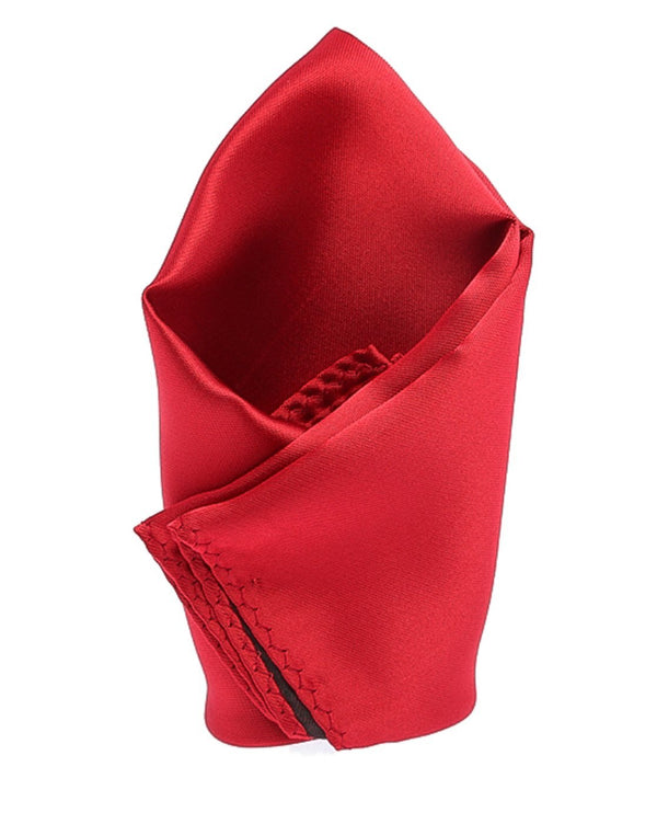 Red Solid Pocket Square
