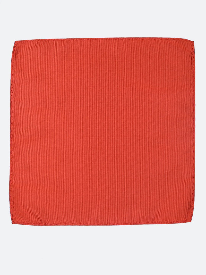 Orange Solid Pocket Square