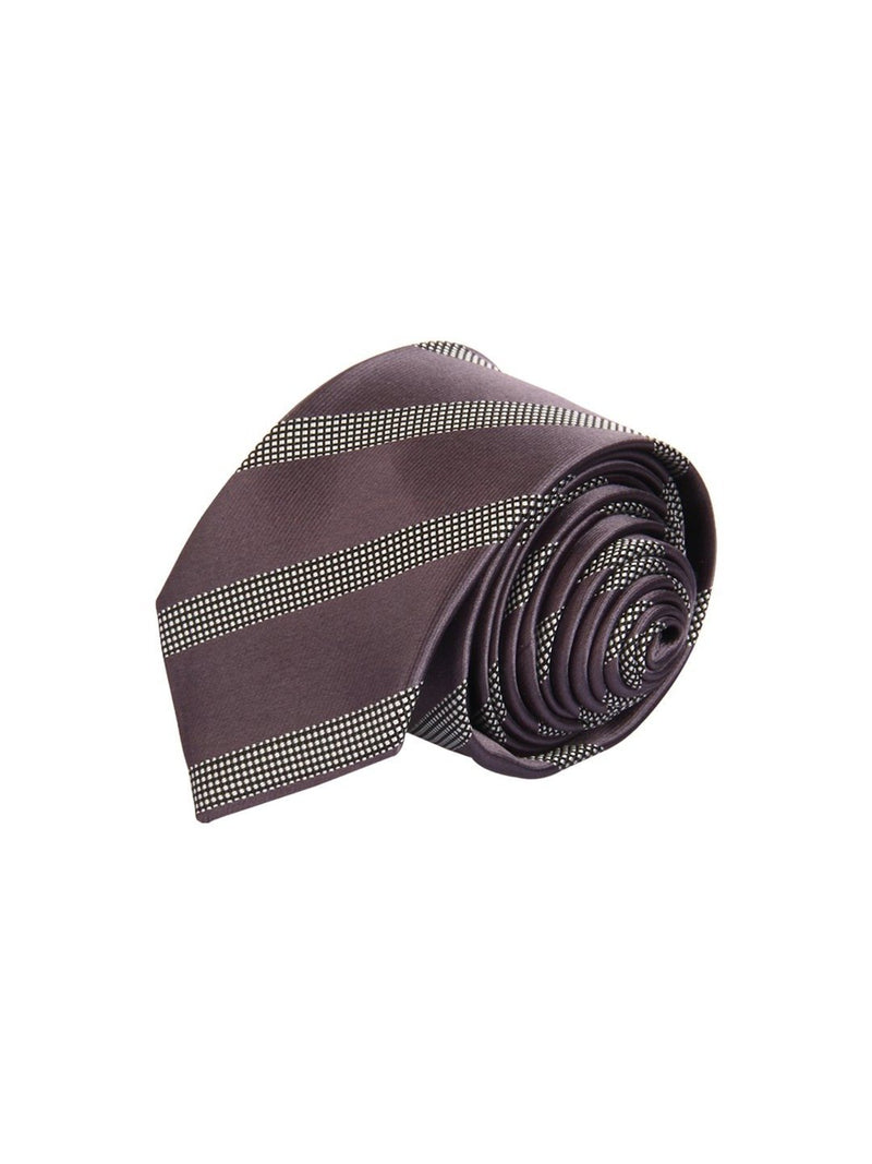 Grey Stripes Skinny Necktie