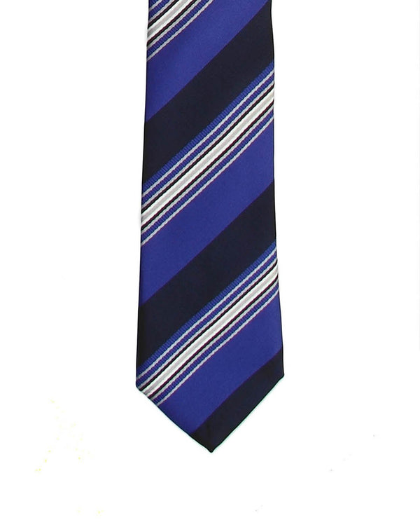 Blue Striped Skinny Necktie