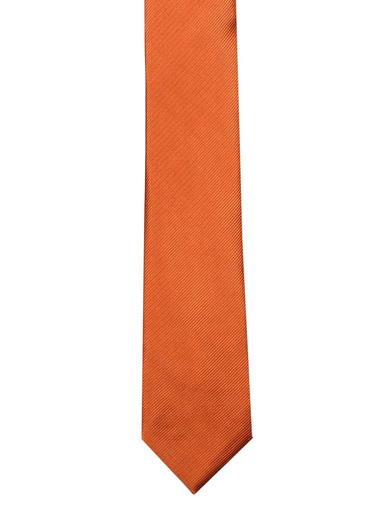 Orange Solid Skinny Necktie
