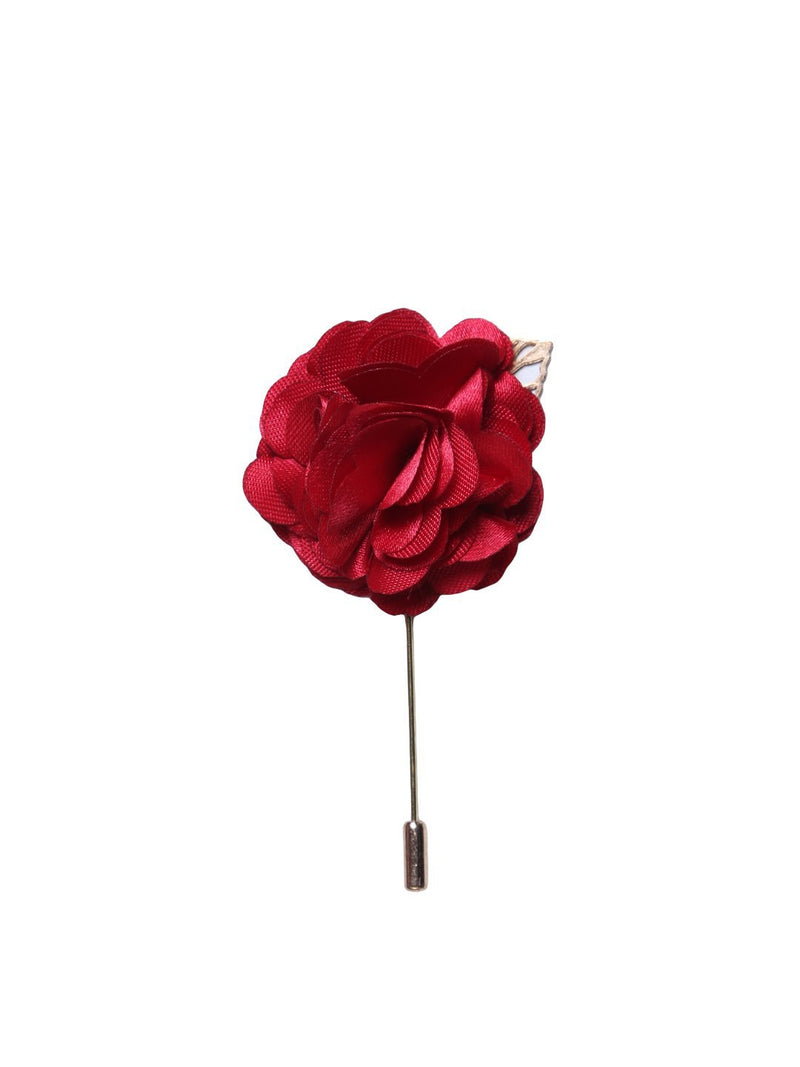 Red Floral Lapel Pin
