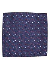 Blue Floral Woven Pocket Square