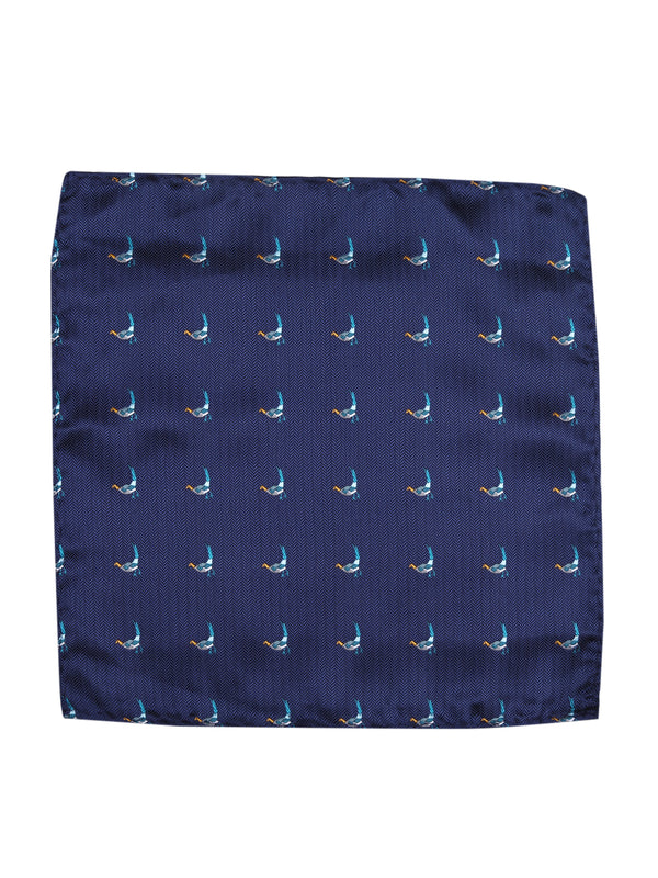 Blue Bird Woven Pocket Square