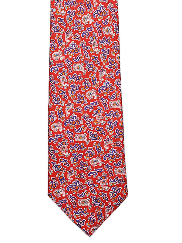 Red Silk Paisley Necktie