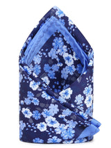 Blue Printed Pocket Square - TOSSIDO