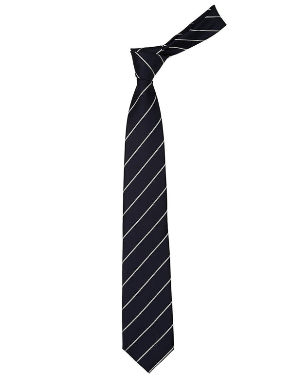 Blue & Silver Stripes Necktie - TOSSIDO