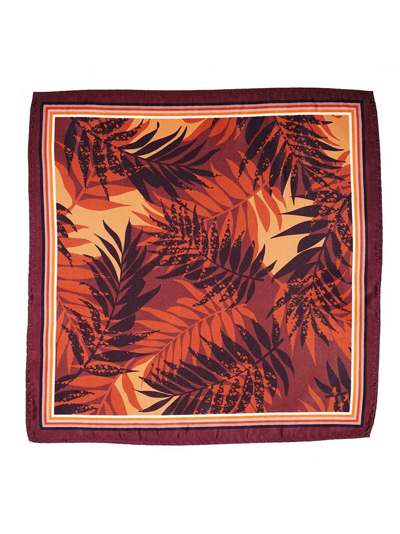 Brown Printed Pocket Square - TOSSIDO
