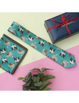Green Novelty Necktie & pocket square giftset - TOSSIDO