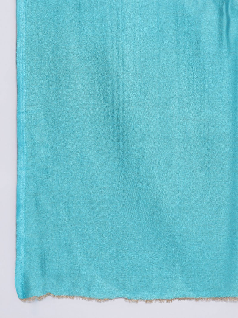Light Blue two tone reversible Modal Stole - TOSSIDO
