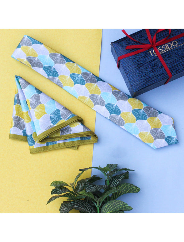 Multicolor necktie & pocket square giftset - TOSSIDO
