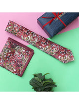 Multicolor Paisley Necktie & pocket square giftset - TOSSIDO