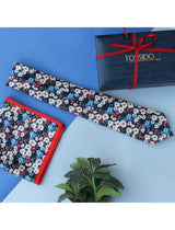 Multicolored Necktie & Pocket Square Set - TOSSIDO