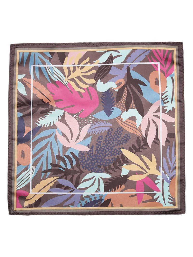Multicolored Printed Floral Pocket Square - TOSSIDO
