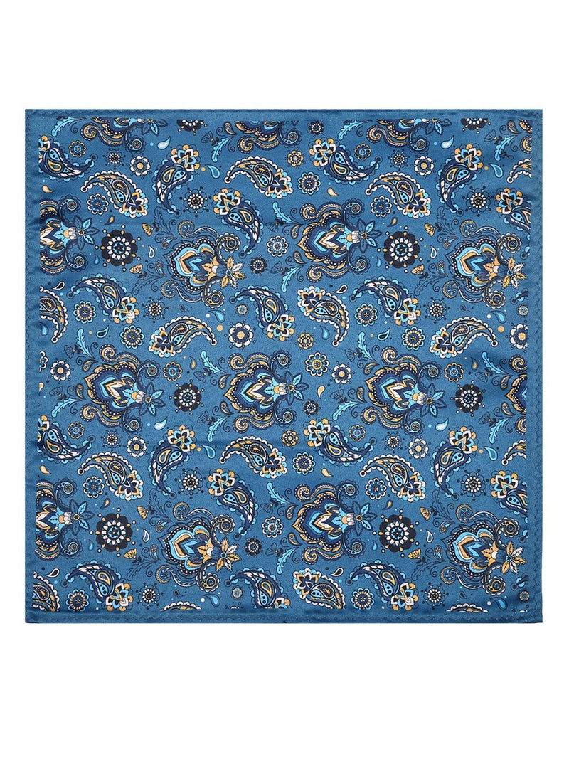 Paisley Printed Pocket Square - TOSSIDO