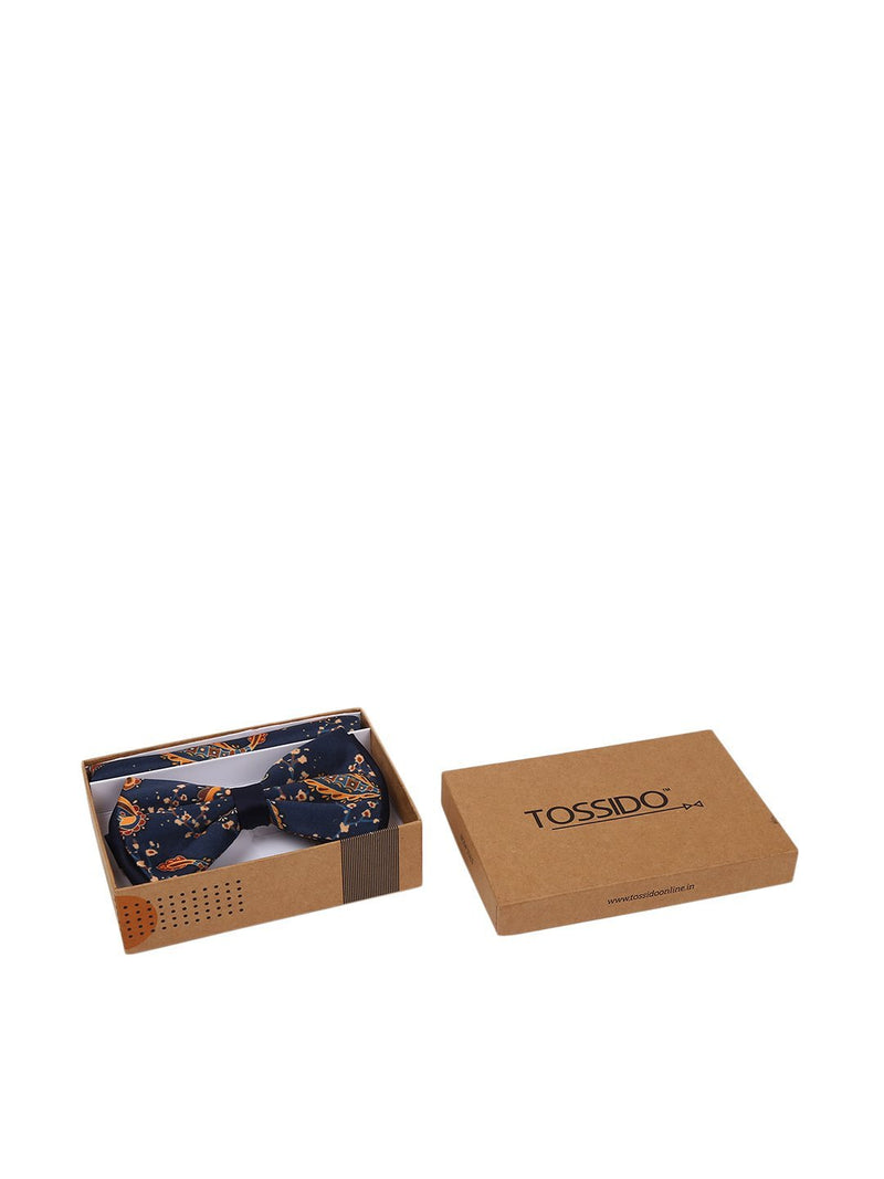 Printed Bowtie & Pocket Square Set - TOSSIDO