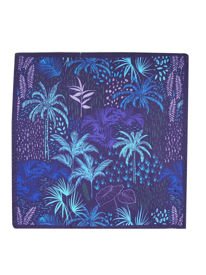 Purple Printed Floral Pocket Square - TOSSIDO