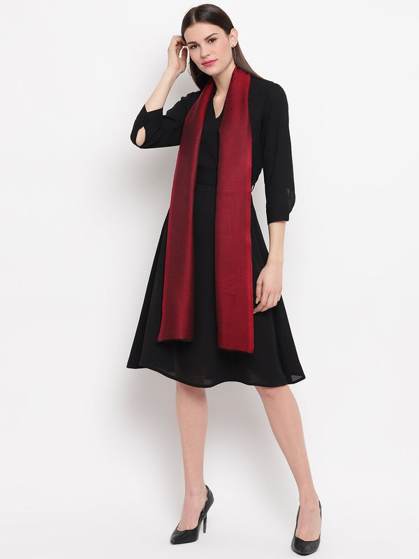 Red two tone reversible Modal Stole - TOSSIDO