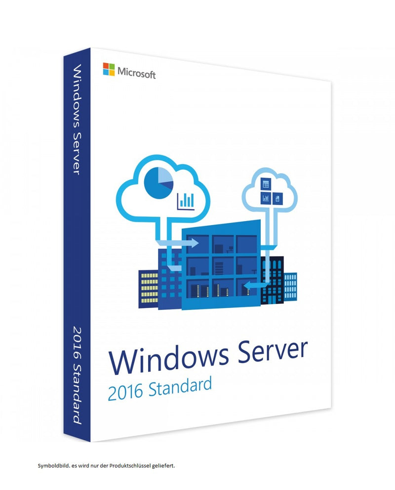 Microsoft Windows Server 2016 64Bit Standard 16 Cores, ESD NEU (deutsch) (PC)