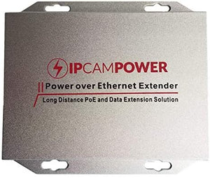 IPCamPower Gigabit Rated POE Powered 2 Port Switch & Network Cat5 Cat6 Midspan Cable Range Extender Passthrough Repeater for IP Cameras IPCP-EXT2PG