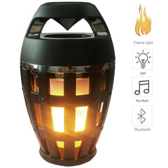 Flame Atmosphere Lamp Light Bluetooth Speaker Portable Wireless Stereo Speaker With Music Bulb