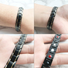 Magnetic health bracelet energy black germanium bracelet