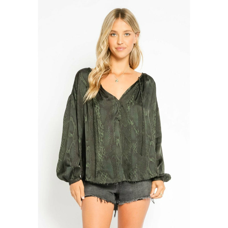 Green Viper Peasant Blouse