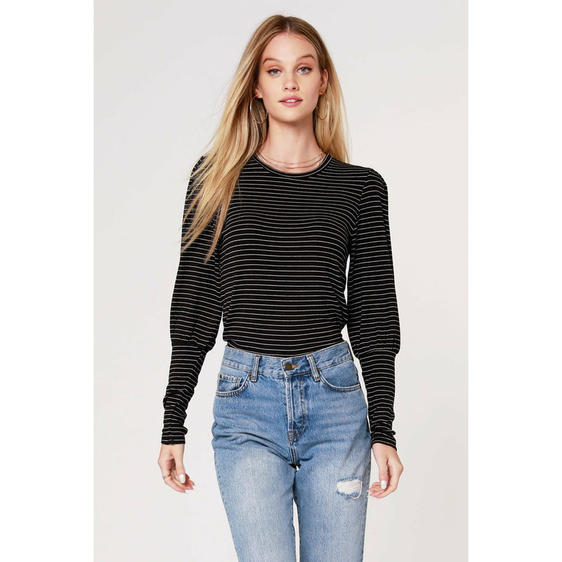 Stripe Bishop Sleeve Top